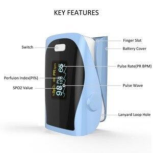 Image 3 - PRCMISEMED Household Health Monitors Heart Rate Monitor Finger Medical Oxygen SPO2 Pulse Oximeter Finger Meter Sky Blue