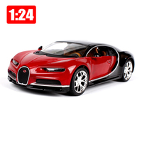 Maisto 1:24 Bugatti Chiron Alloy Sports Car Static Models Office Car Decoration Toy Children Boy New Years Gift