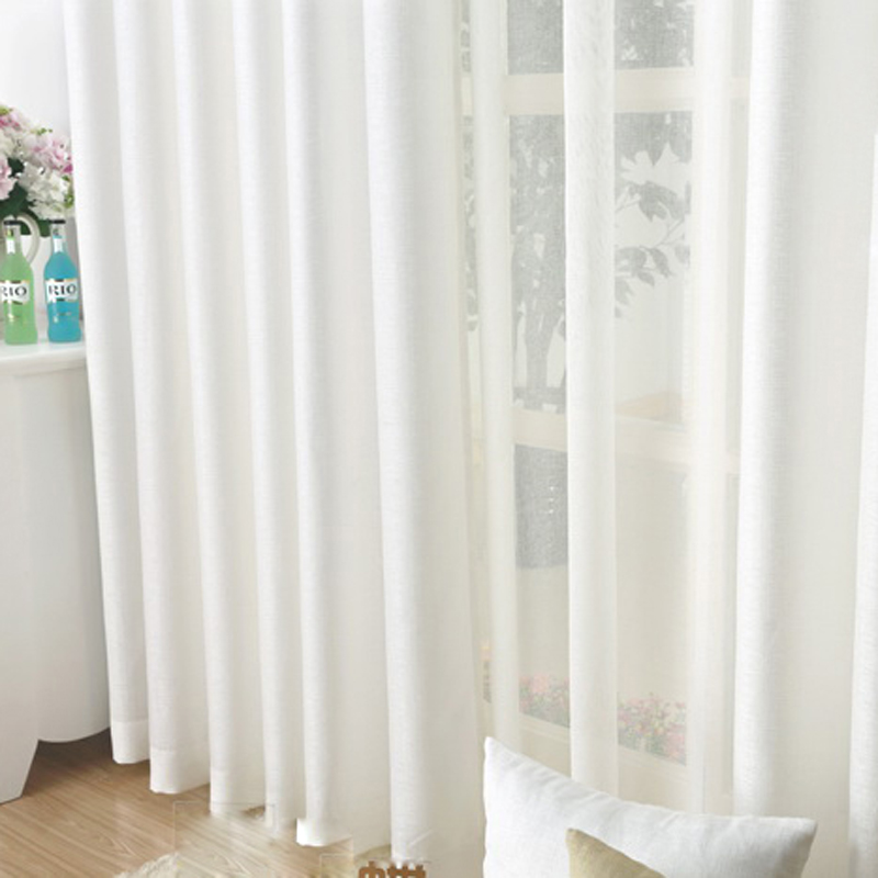 aliexpresscom buy high quality solid linen curtain blue white color semi shade cloth simple window curtains for living room bedroom p192z15 from - Blue And White Window Curtains
