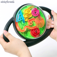 Abbyfrank 3D Magic Puzzle Ball Rolling Maze Balance Orbit Game Toy Classic Logic Ability Educational Toy