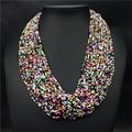 2016 Ювелирные Изделия Maxi Ожерелье Бусы Вязание Mujer Нью-Чешские Ожерелья Женщины Ручной Работы Колье Choker Заявление Ожерелья