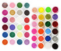 New 48 Color Glitter Powder Nail Art Caviar Mini Beads Nail Tips Decoration Kit