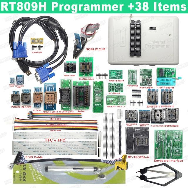 100% Original RT809H โปรแกรมเมอร์ EMMC   Nand อย่างรวดเร็ว Universal Programmer + 38 รายการ + Edid + ดูดปากกา