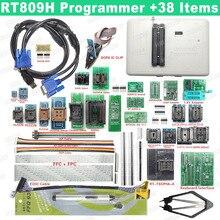 100% original rt809h programador emmc nand extremamente rápido programador universal + 38 itens + cabo edid + caneta de sucção