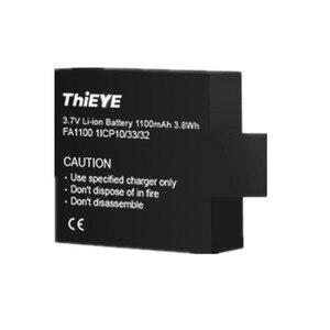 Image 3 - デュアルバッテリー充電器 + 2 1100 2800mahの充電式電池thieye T5 エッジ/T5 プロ/T5e/akaso v50 エリート/8 18kアクションカメラ