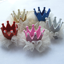 New Lovely Girls Noble Crown Faux Pearls Princess Hair Clip Hair Accessory for Party 5 Colors