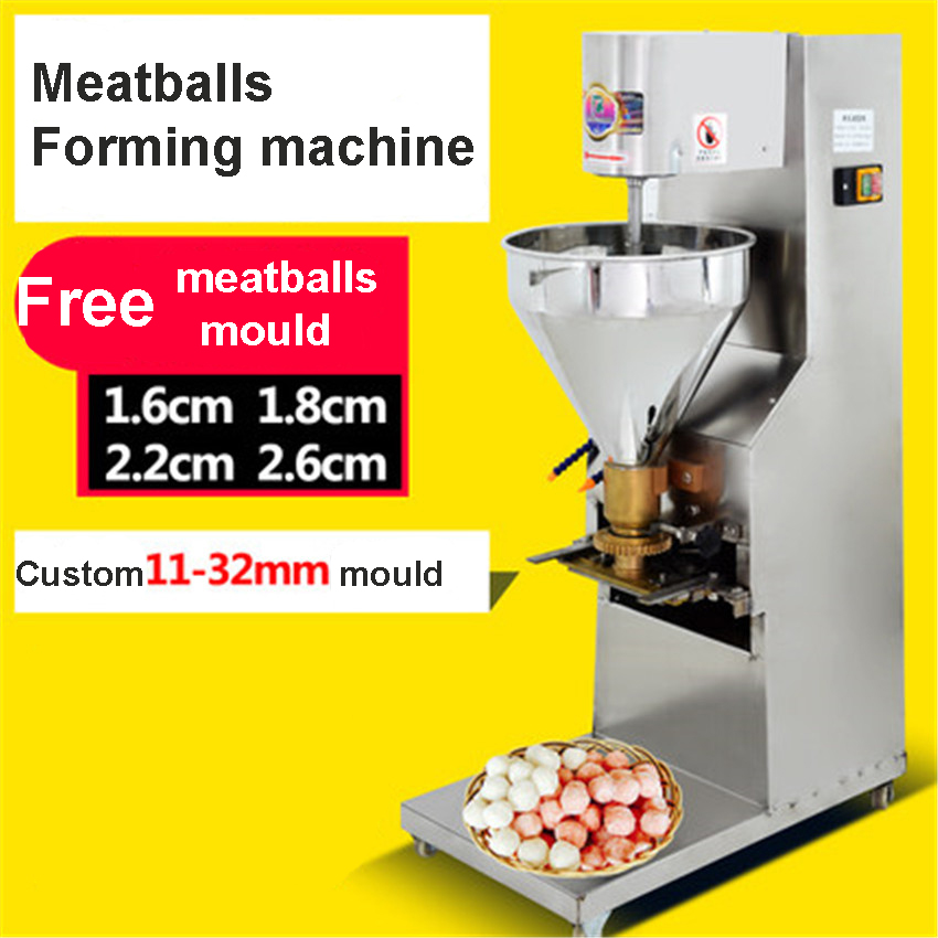 SJ-28 Meatballs Roll Forming Machine 1100W That Makes The Meat Beef Pork Fish Balls Making Machine Mould 16mm, 18mm, 22mm, 26mmSJ-28 Meatballs Roll Forming Machine 1100W That Makes The Meat Beef Pork Fish Balls Making Machine Mould 16mm, 18mm, 22mm, 26mm