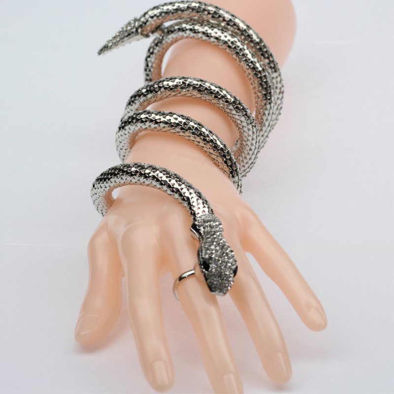 Fashion Cuff Bangle Women Armband Retro Snake Bracelet Punk Arm Bracelets Bangles 2017 Jewelry In From Accessories On Aliexpress Com