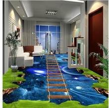 Modern Custom 3D Floor Mural Cosmic Star Three-dimensional Painting PVC Wall Paper Self-adhesive Floor Mural(China)