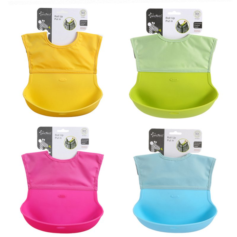 2016 Baby Bibs Waterproof Silicone Baby Feeding Bibs Saliva Newborn Aprons Foldable Easy Clean Baby Burp Cloths babero Kids