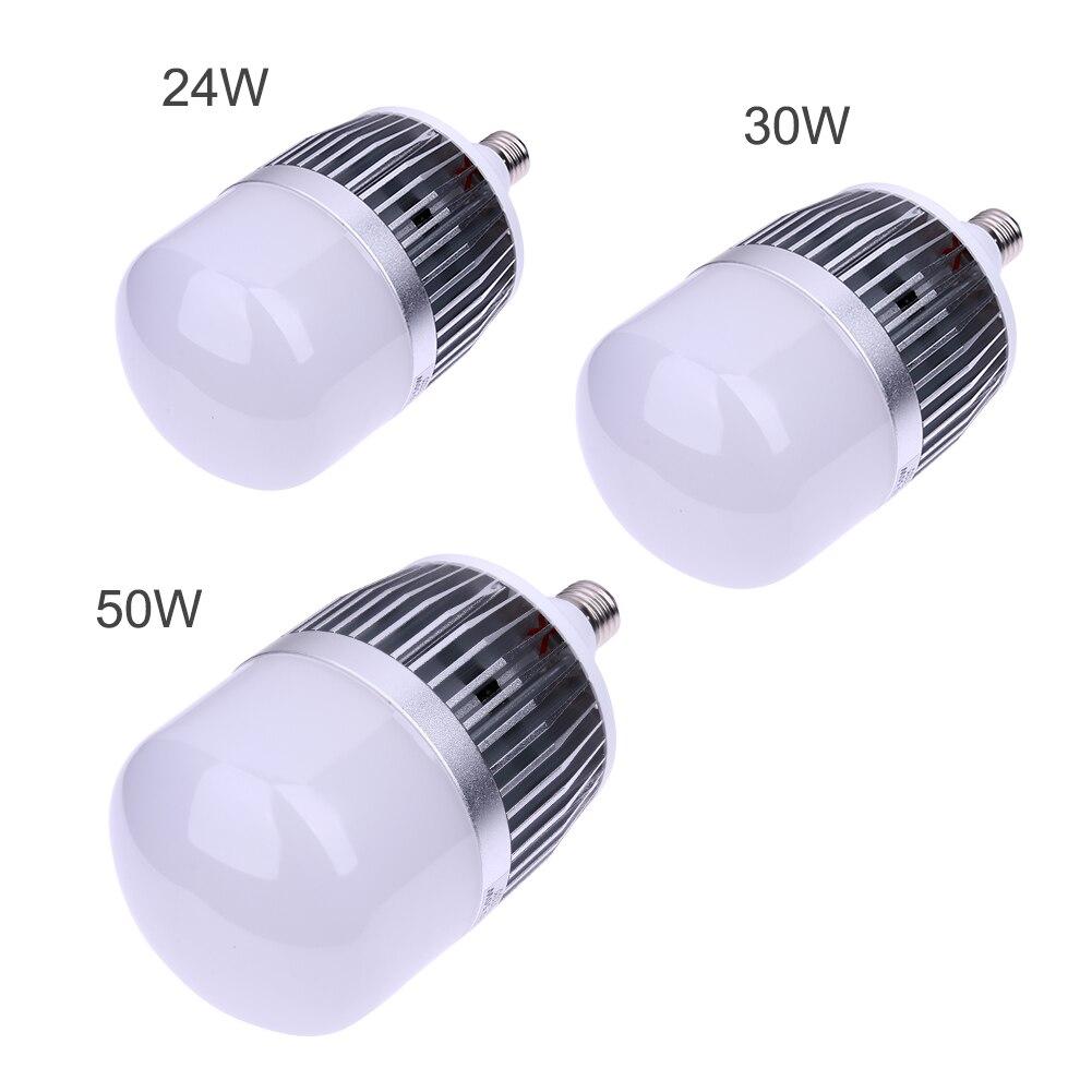 Haute Puissance 24 W 30 W 50 W Led Ampoules E27 Base Led Ampoule SMD 3535 Aluminium PC Plat Usine Lampe de Construction # LO