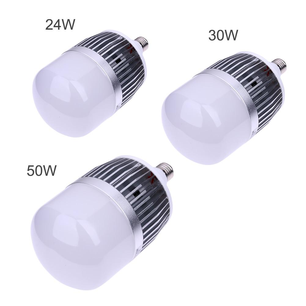 La Puissance élevée 24 w 30 w 50 w Led Ampoules E27 Base A Mené L'ampoule SMD 3535 PC en aluminium Plat bâtiment d'usine Lampe # LO