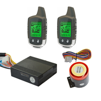 New Power Saving Two Way Motorcycle Alarm With LED Status Indicator And 2 LCD Remote Transmitters