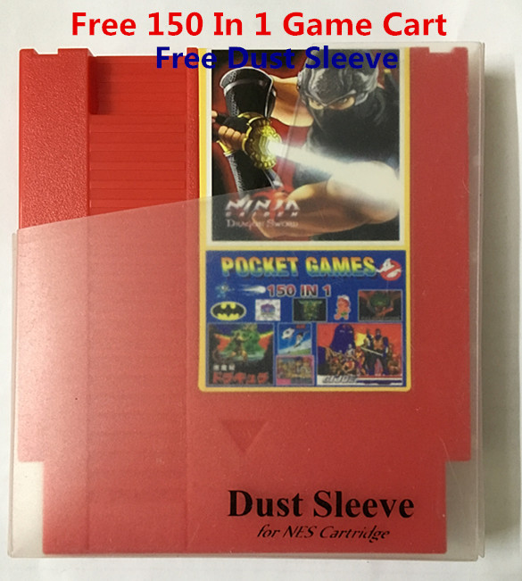Free Dust Sleeve the newest <font><b>150</b></font> <font><b>in</b></font> <font><b>1</b></font> cartridge 72 Pins Game Cartridge Replacement Plastic Shell image