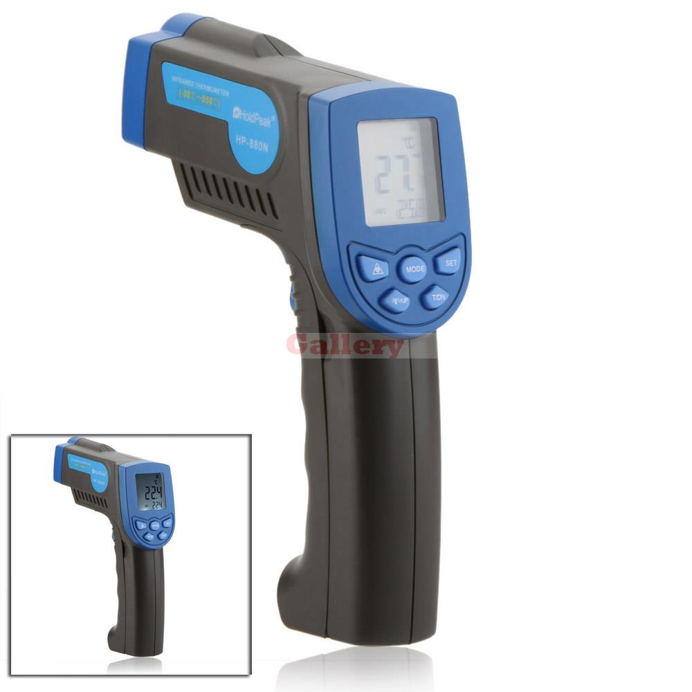 Holdpeak Hp 880n Non Contact 12 1 Digital Infrared Ir Thermometer Laser Temperature Gun Sensor Meter Range 30 550 Ir Thermometer