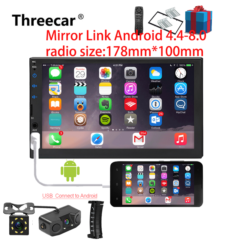 2din Car Radio 7 inch Touch mirrorlink Android Player subwoofer MP5 Player Autoradio Bluetooth Rear View Camera tape recorder2din Car Radio 7 inch Touch mirrorlink Android Player subwoofer MP5 Player Autoradio Bluetooth Rear View Camera tape recorder