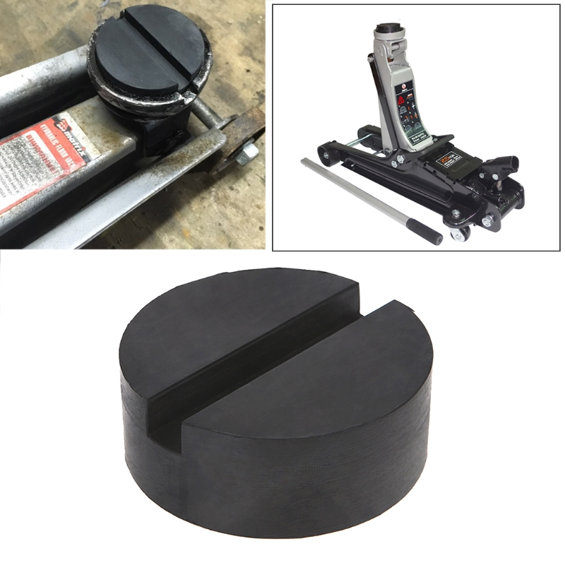 1Pc Floor Slotted Car Rubber Jack Pad Frame Protector Guard Adapter Jacking Disk Pad Tool For Pinch Weld Side Lifting Disk