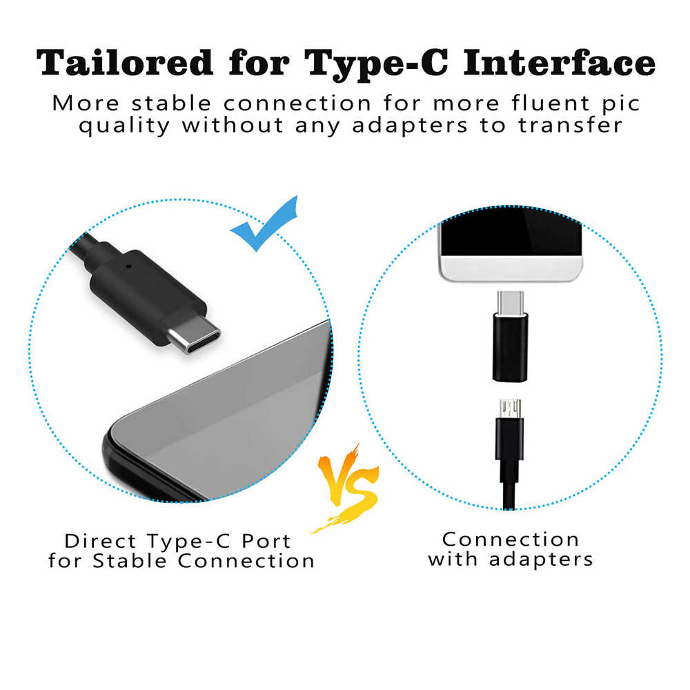 Type - c USB Android กล้อง Endoscope 7.0 มม. สายเคเบิล PC โทรศัพท์ Android Endoscope ท่อ Type C Endoscope ตรวจสอบ mini กล้อง