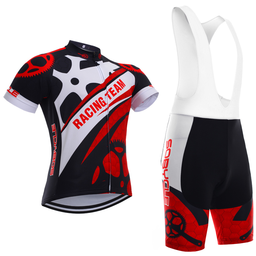 Ruote rosse sobycle marca team pro cycling jersey 9D gel pad bicchierini bike set Ropa ciclismo estate ciclismo Maillot usura