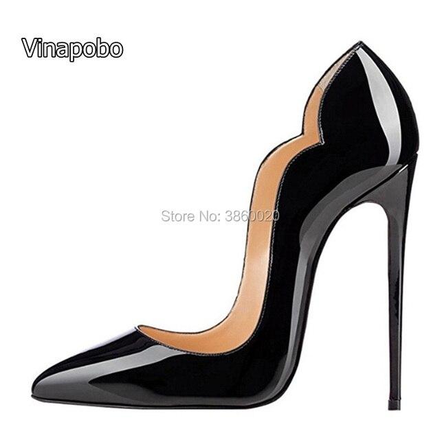 b95f8da6dbd cocktail party lady sexy pumps 12 cm stilettos top quality Stilettos high  heels patent leather shoes open toe high heels fashion