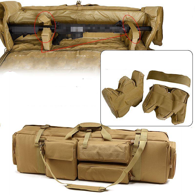 Tático m249 saco de arma airsoft militar caça tiro rifle mochila ao ar livre arma transporte caso proteção com alça ombro