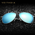 VEITHDIA Aluminum Magnesium Fashion Polarized Sunglasses Men 6 Color Coating Mirror Driving Eyewear Accessories For Men 2366