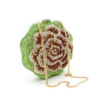 BL012โรสรูปดอกไม้คริสตัลกระ