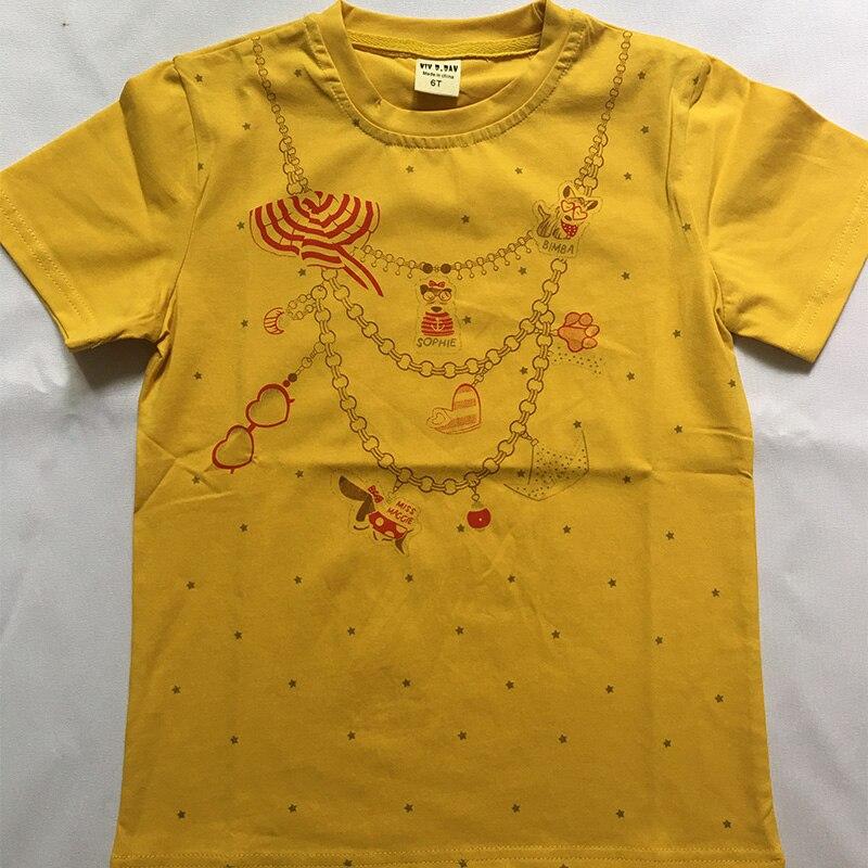 Naszyjnik z nadrukiem Girls Tee Shirt z filconem Garcon Bling Girls - Ubrania dziecięce - Zdjęcie 2