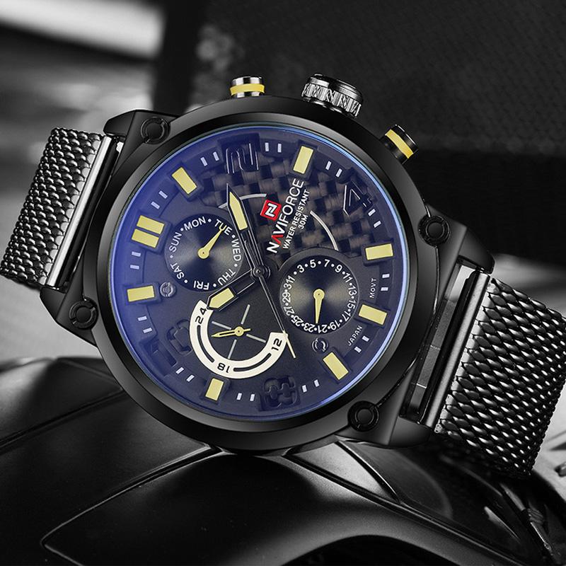 Prix pour 2016 mode casual hommes montres top marque de luxe naviforce militaire montre à quartz hommes montre-bracelet étanche relogio masculino