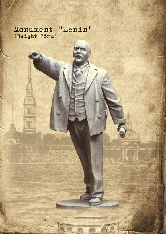 New Unassembled 1/35 Monument Lenin (hieght 75mm)   Soldier Figures  Resin Kit DIY Toys Unpainted Kits