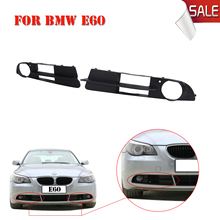 2x Front Bumper Fog Light Foglamp Grille Cover For BMW 5-Series 525 530 545 550 E60 E61 Sedan Wagon 2004-2007 Car Styling #W128