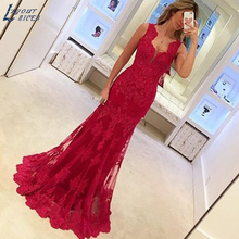 LAYOUT NICEB SHJ490 Red Evening Dress Mermaid Party Dress