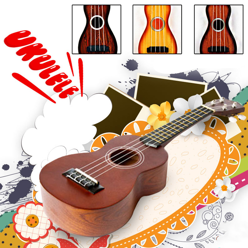 Musical Instruments Ukulele Color Random ABS Beginners Child Small Guitar Toy Mini New Year Gift Entertainment Gadget