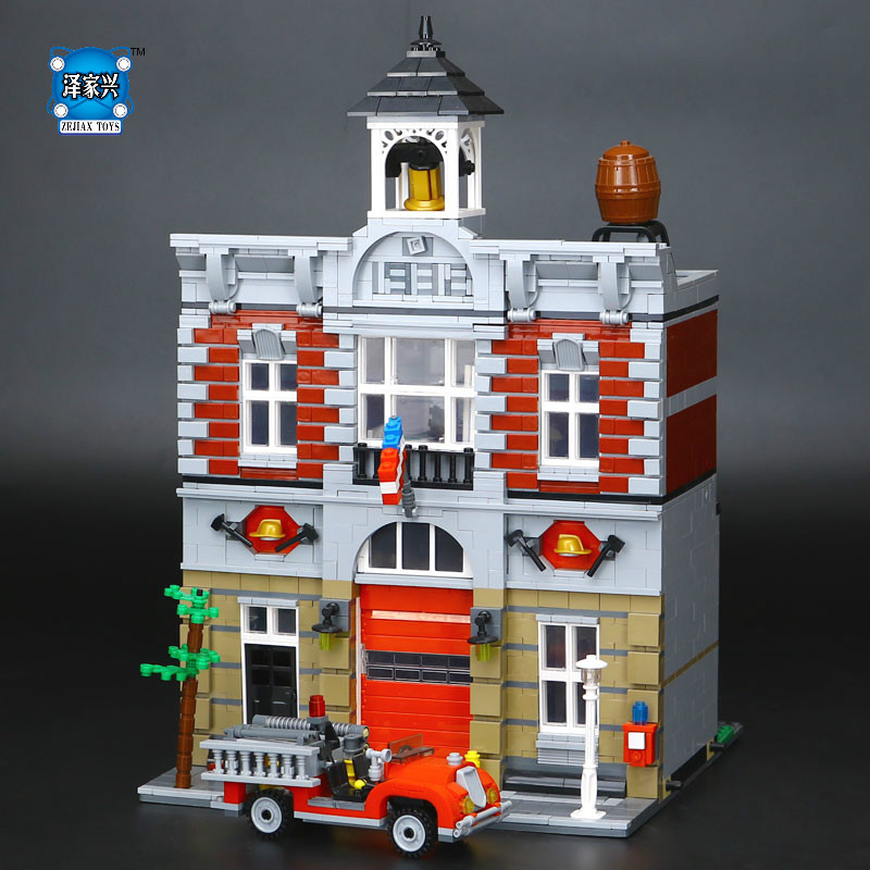 New LEPINE 2313Pcs City Street Fire Brigade Model Building Kits Blocks Bricks Compatible Educational Gifts Funny Figures Toys lepine model