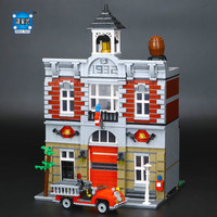 New LEPINE 2313Pcs City Street Fire Brigade Model Building Kits Blocks Bricks Compatible Educational Gifts Funny
