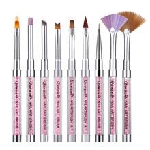 Nail Art Brush Line Pen Design Painting Drawing UV Plastic Tool Set