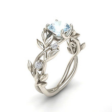 Flowers Finger Rings Stainless Steel Rings For Women Crystal Middle Ring Jewelry