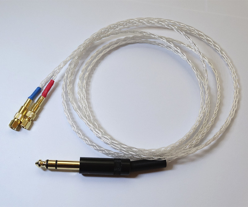 2.5m 8ft Handmade 8 core 4N OCC Flat braid Silver plated Headphone Upgrade Cable For HIFIMAN HE-5 HE-6 HE-400 HE-500 1 2m 4ft handmade 8 core 4n occ flat braid silver plated headphone upgrade cable for sennheiser hd580 hd600 hd650 hd25 sp