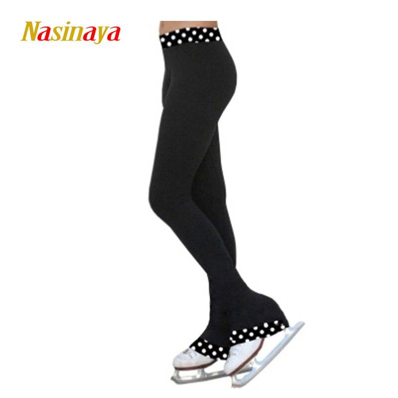 Personnalisé Figure De Patinage pantalon long pantalon pour Fille Femmes Formation Concurrence Patinaje Glace De Patinage Chaud Polaire Gymnastique 13