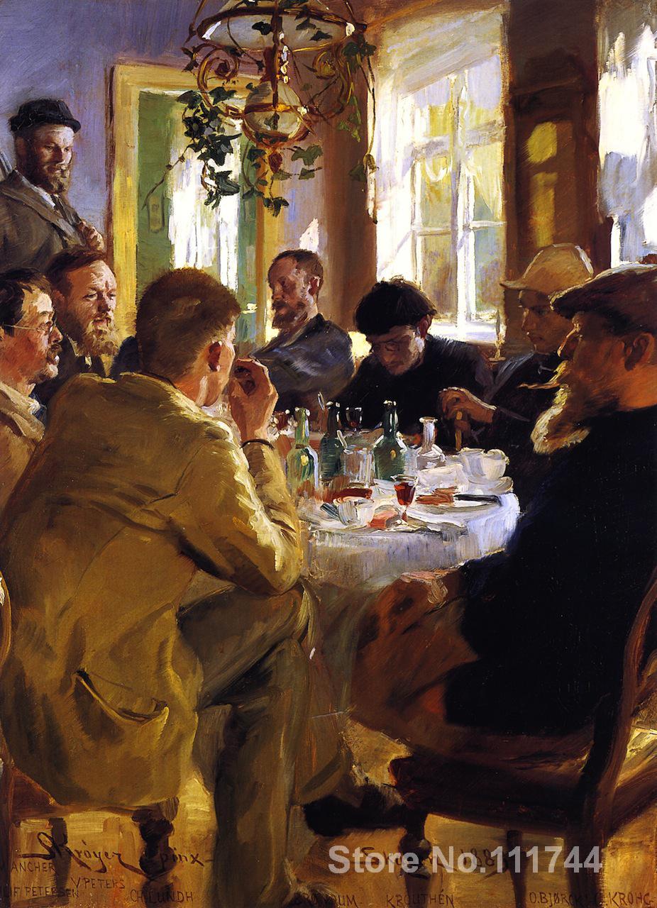 Déjeuner d'artistes d'art danois à Skagen Peder Severin Kroyer peintures à vendre de haute qualité peint à la main