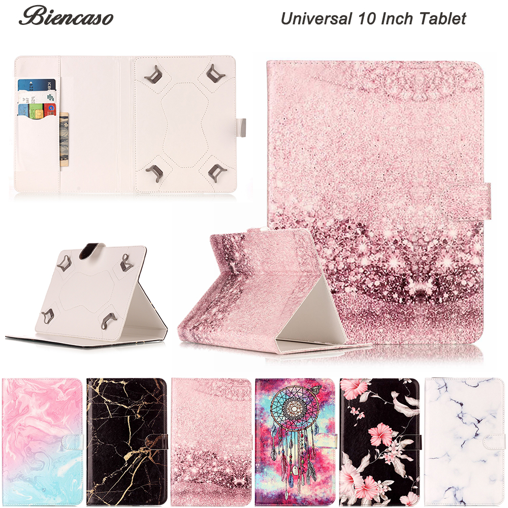 Universal 10 Inch Tablet Cover Marble PU Leather Magnetic Flip Case For Huawei Lenovo Samsung Asus iPad Toshiba Tablet B08 steelie magnetic tablet socket
