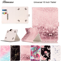 Universal 10 Inch Tablet Cover Marble PU Leather Magnetic Flip Case For Huawei Lenovo Samsung Asus