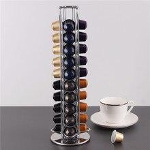 40 чашек Nespresso кофейные капсулы держатель вращающаяся стойка кофейная стойка для капсул dolcegusto капсулы для хранения полка Организация держатель
