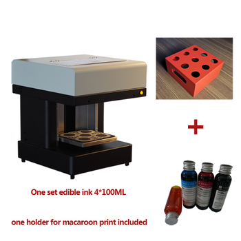 Macaroon Food printer  Selfie Coffee Beer print 4 cups coffee machine
