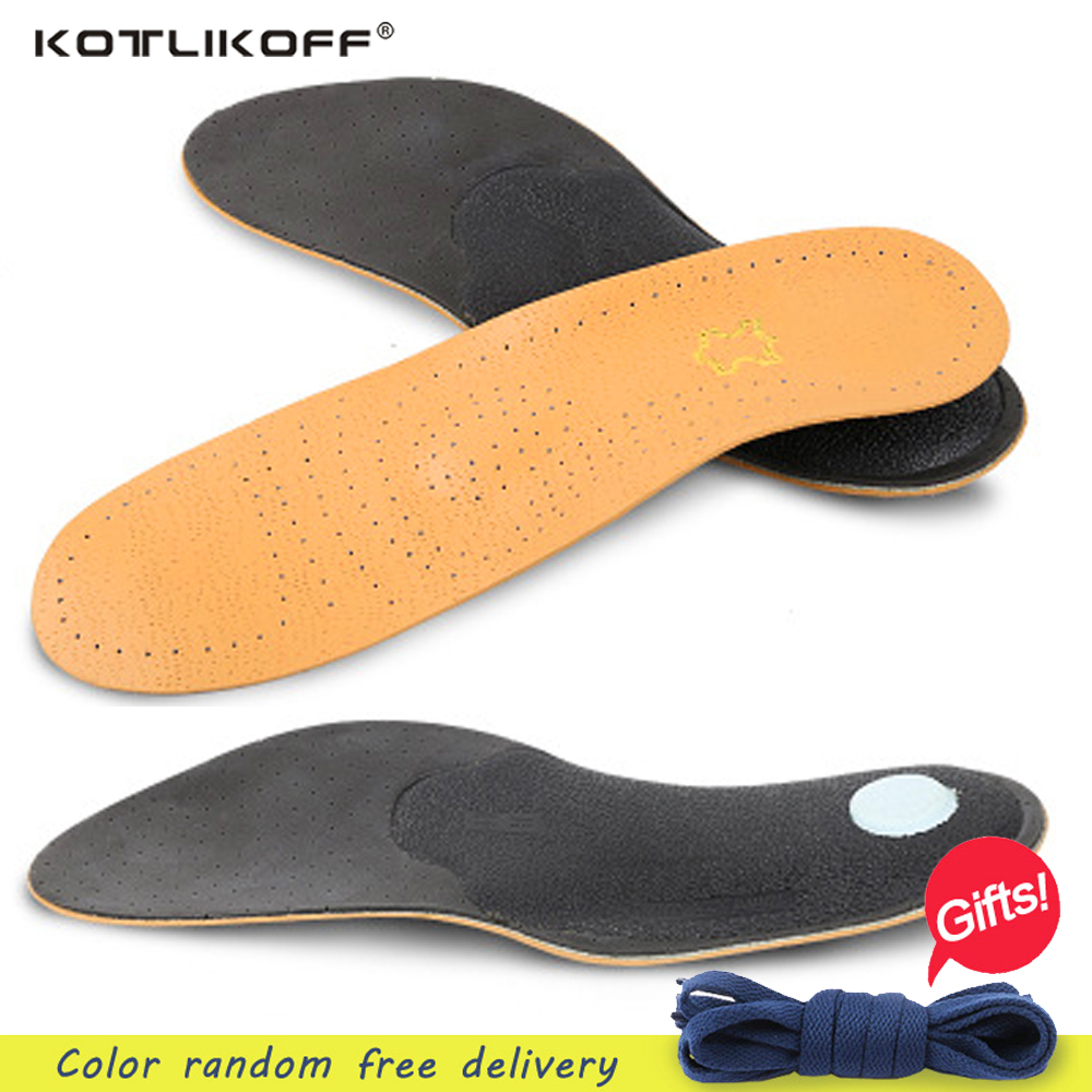 KOTLIKOFF 1 Pair Premium leather women men Comfortable Insoles Breathable Insoles Inserts flat Arch Pad Shoes accessories