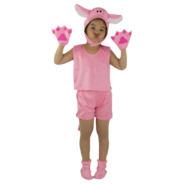 2017 New Summer Short Cartoon Animal Pink Pig Costume For Kids Boy Girl Cosplay Clothing Birthday  sc 1 st  AliExpress.com & 2017 New Summer Short Cartoon Animal Pink Pig Costume For Kids Boy ...