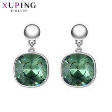 Xuping Fashion Earrings High Quality Crystals from Swarovski Color Plated Charm Design for Women Gift M95-20499(China)