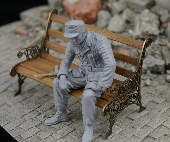<font><b>1/35</b></font> Park Bench <font><b>Resin</b></font>-PE - <font><b>Accessory</b></font> (no Figures ) image