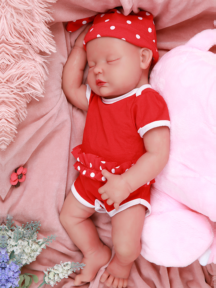 Realistic Baby Dolls Silicone Reborn Born-Alive IVITA Toy Full-Body 47cm WG1510 Brinquedos