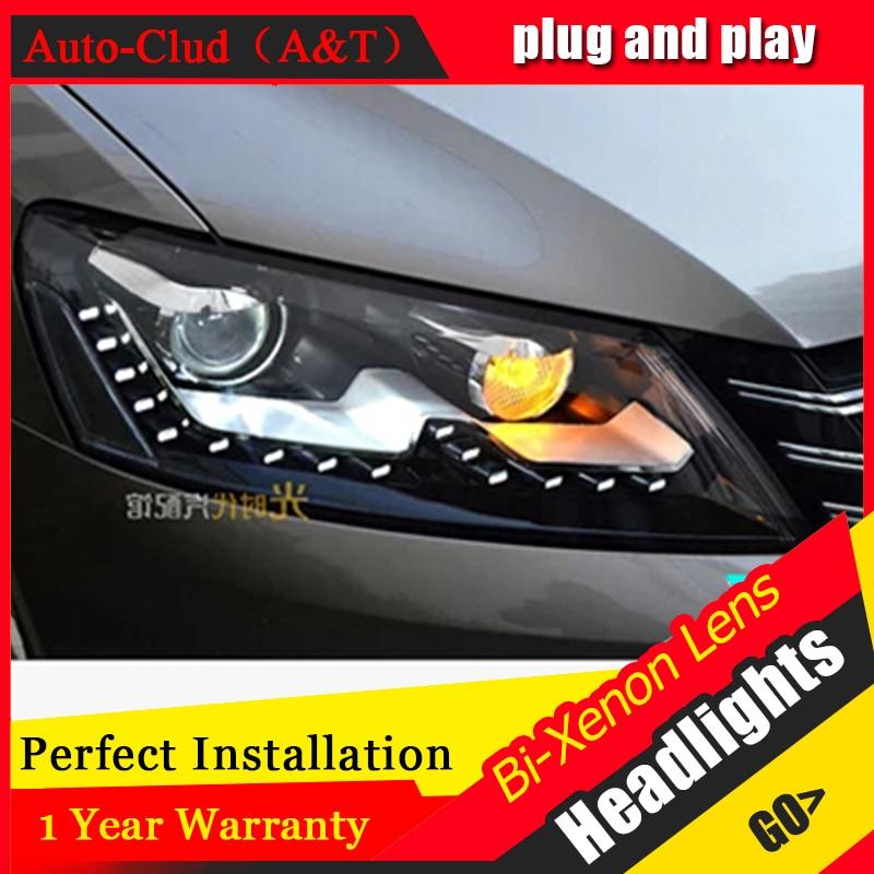 Auto Clud 2011 2015 For vw passat B7 headlights bi xenon lens passat B7 head lamps